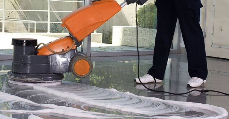 Floor Scrubbing & Polishing In Harsh Vihar